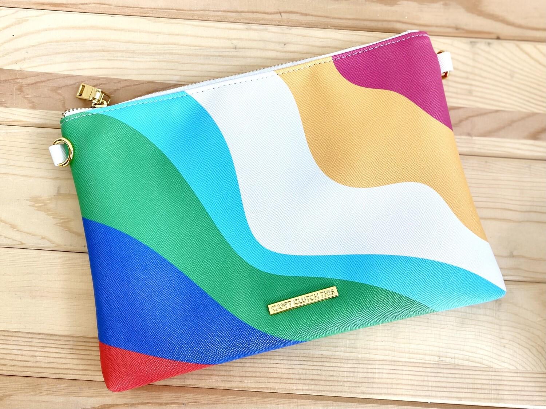 Rad + Happy Rainbow Clutch