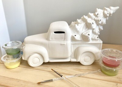 Take Home Light up Truck and Tree with Glazes- Pick up curbside