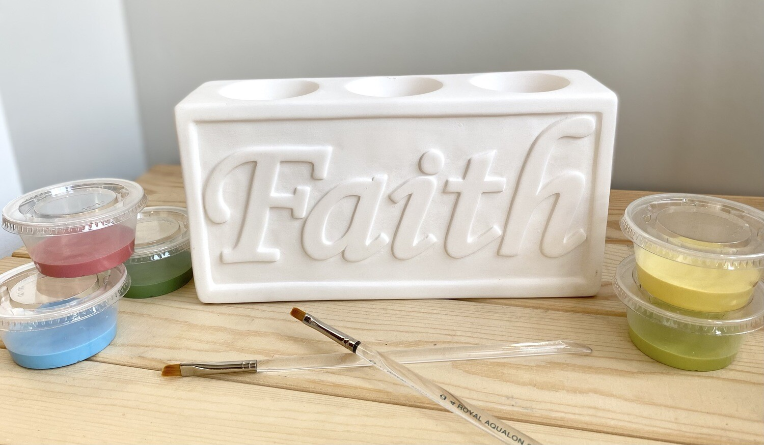 Take Home Faith & Hope Plaque with Glazes- Pick up curbside