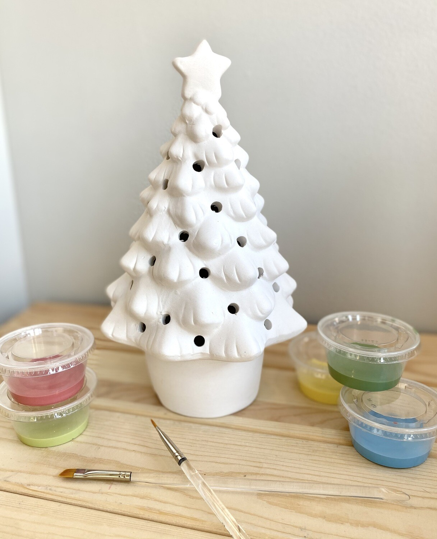 Take Home One Piece Light up Tree with Glaze- Pick Up Curbside