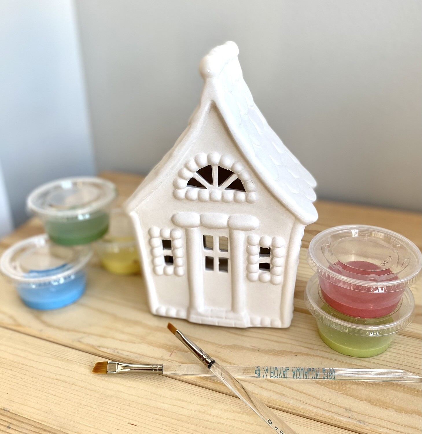 Take Home Gingerbread Votive with Glazes- Pick up curbside
