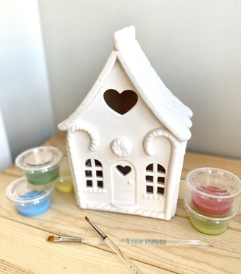 Take Home Light up Gingerbread Lantern with Glazes- Pick up curbside