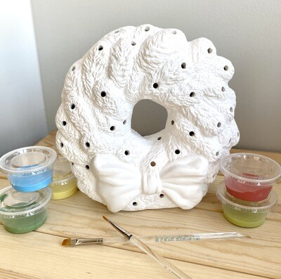 Take Home Light up Wreath with Glazes- Pick up curbside
