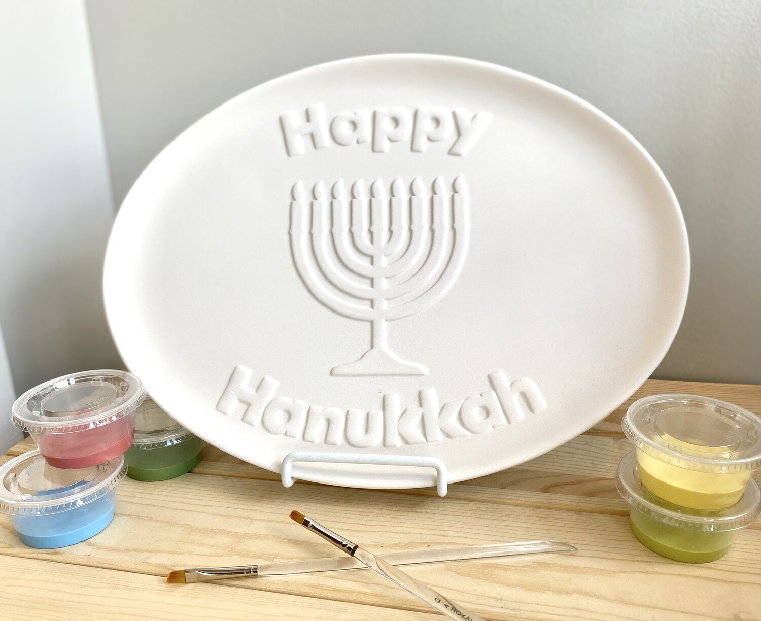 Take Home Happy Hanukkah Platter with Glazes- Pick up curbside