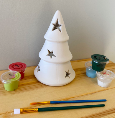 Take Home One Piece Tree Votive with Star Cutouts - Pick up curbside