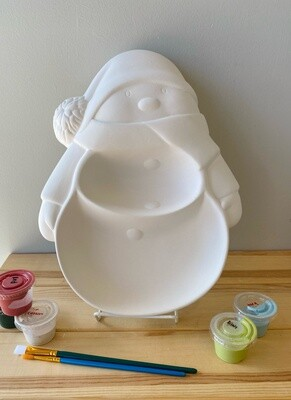 Take Home Snowman Section Platter - Pick Up Curbside