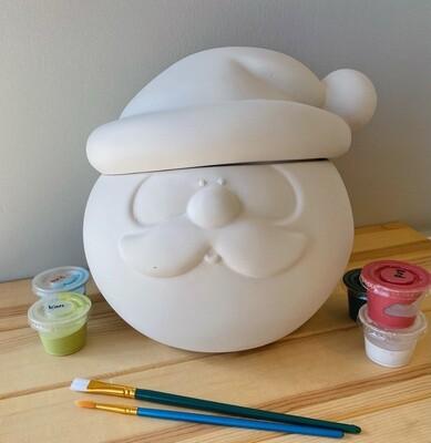 Take Home Santa Head Cookie Jar - Pick Up Curbside