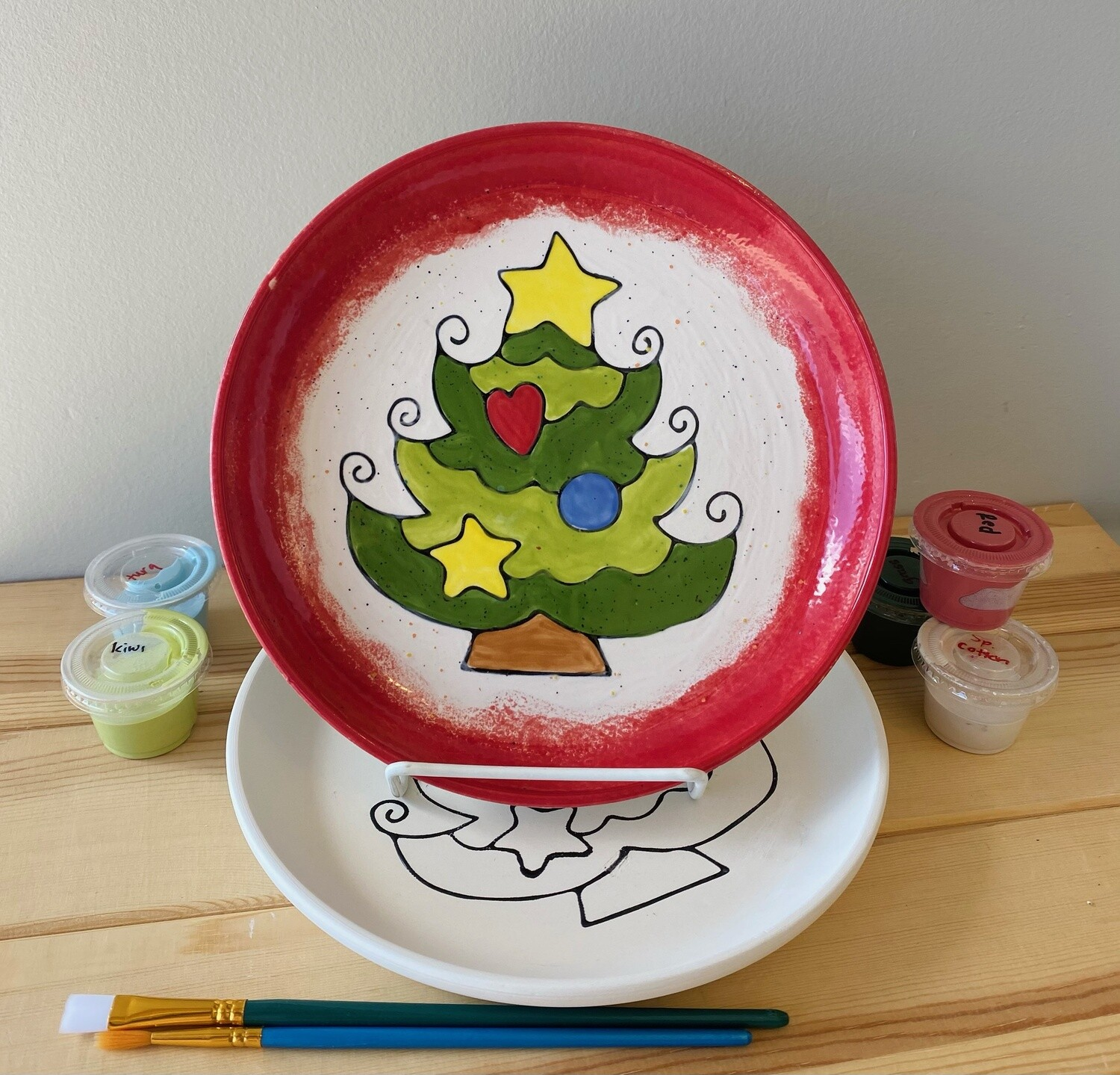 Take Home Coloring Book Christmas Tree Plate - Pick Up Curbside
