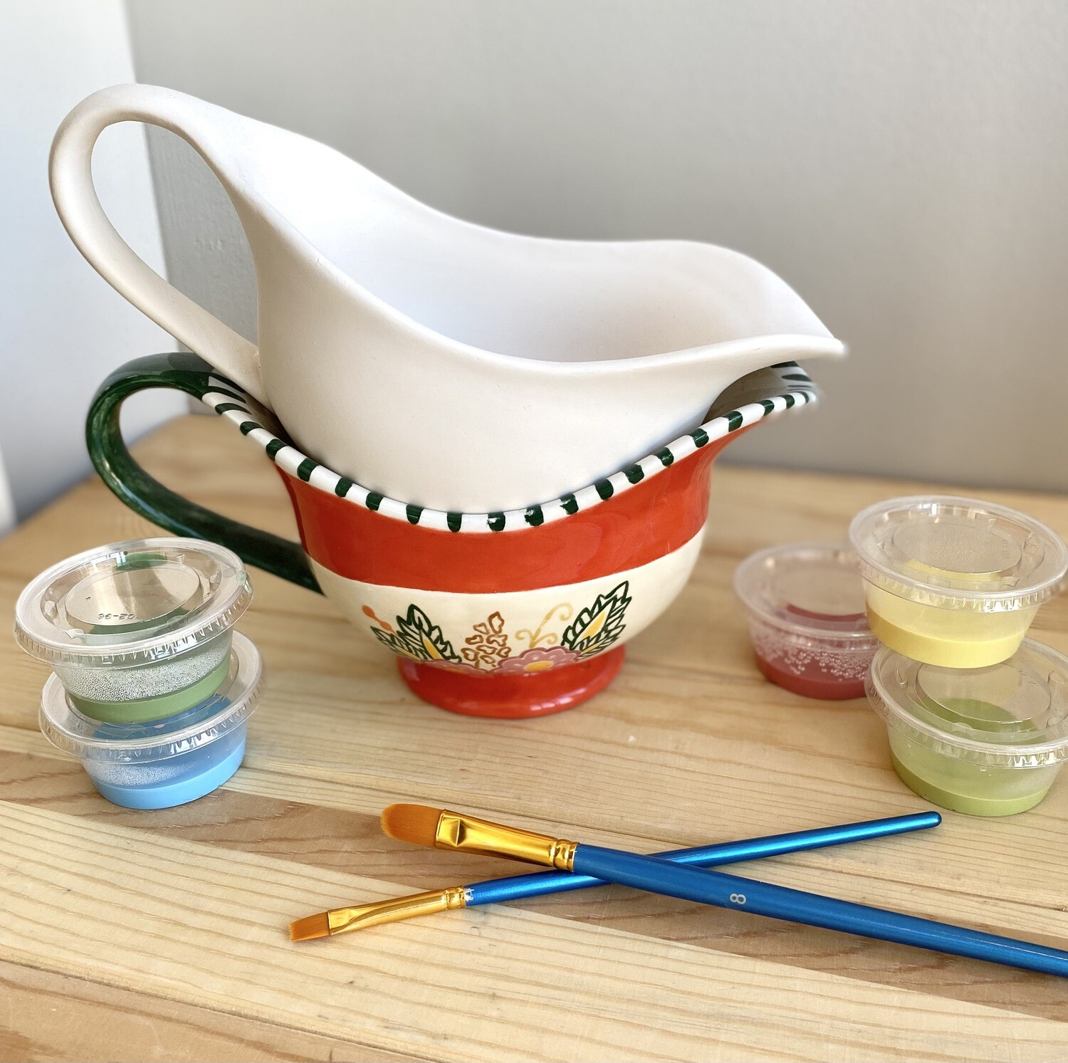 Take Home Gravy Boat with Glazes- Pick Up Curbside