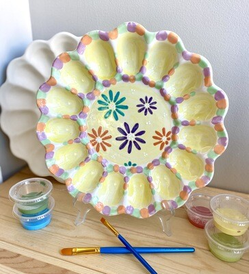 Take Home Deviled Egg Dish with Glazes- Pick Up Curbside