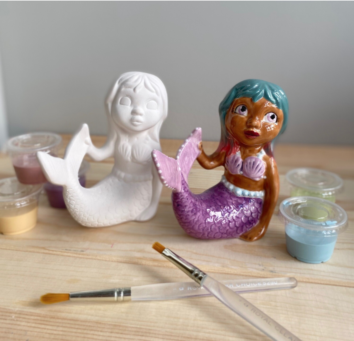 Take Home Mermaid Party Animal with glazes  - Pick up Curbside