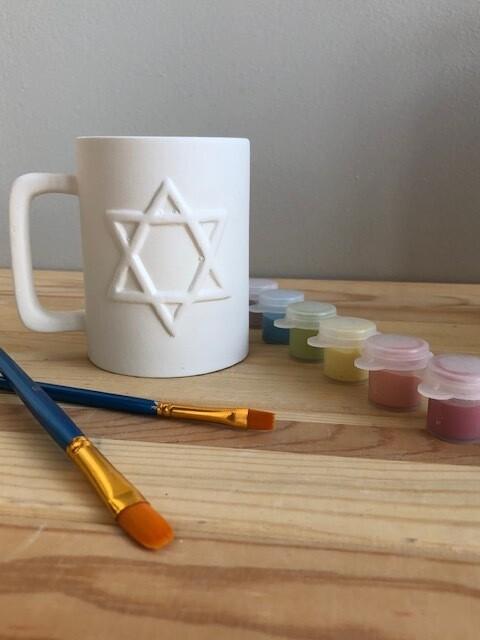 Take Home Star of David Coffee Mug with Glazes - Pick up Curbside