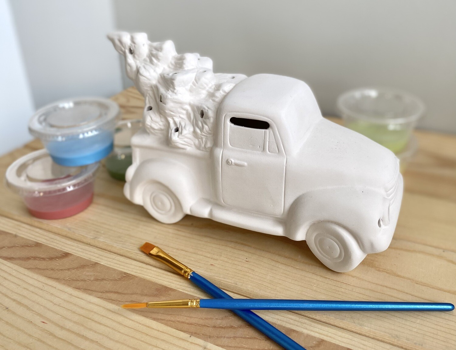 Take Home Truck and Tree Lantern with Glazes- Pick up Curbside