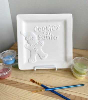 Take Home Cookies for Santa Plate with Glazes- Pick up Curbside