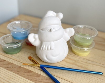 Take Home Snowman Party Animal with Glazes- Pick up Curbside