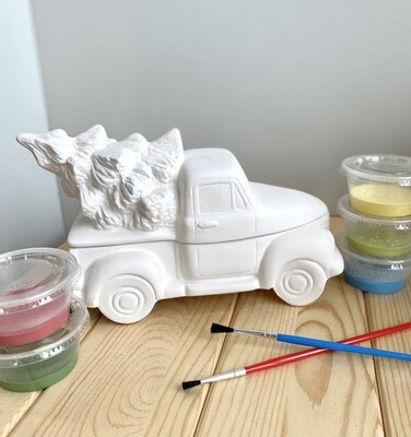 Take Home Truck with Tree Box with Glazes- Pick Up Curbside