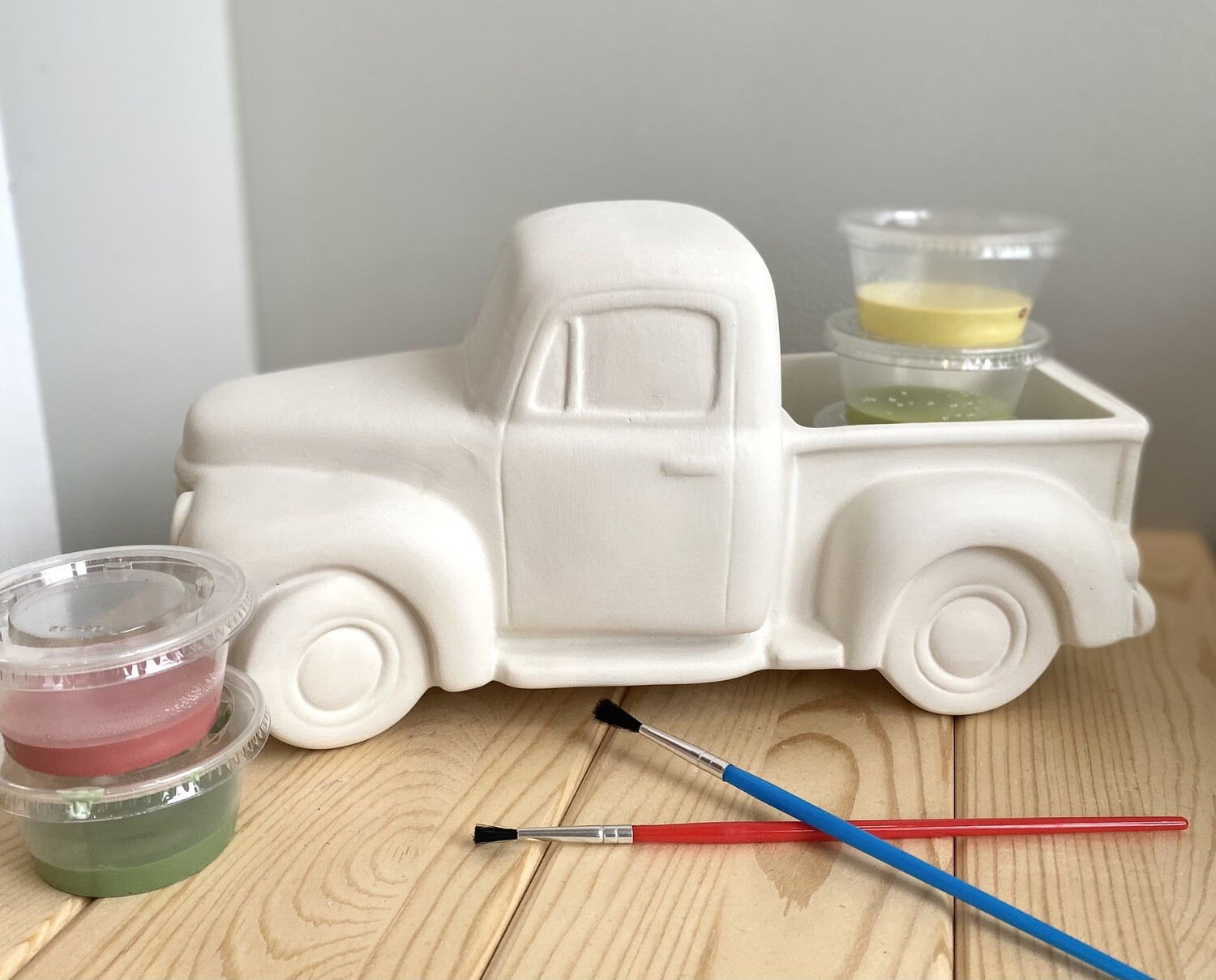 Take Home Antique Pick Up Truck with Glazes- Pick Up Curbside