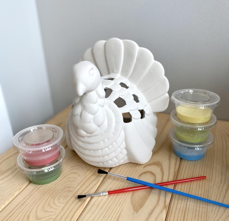 Take Home Turkey Lantern with Glazes- Pick Up Curbside