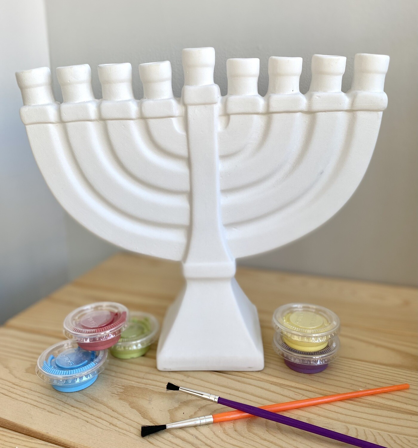 Take Home Menorah with Glazes- Pick Up Curbside