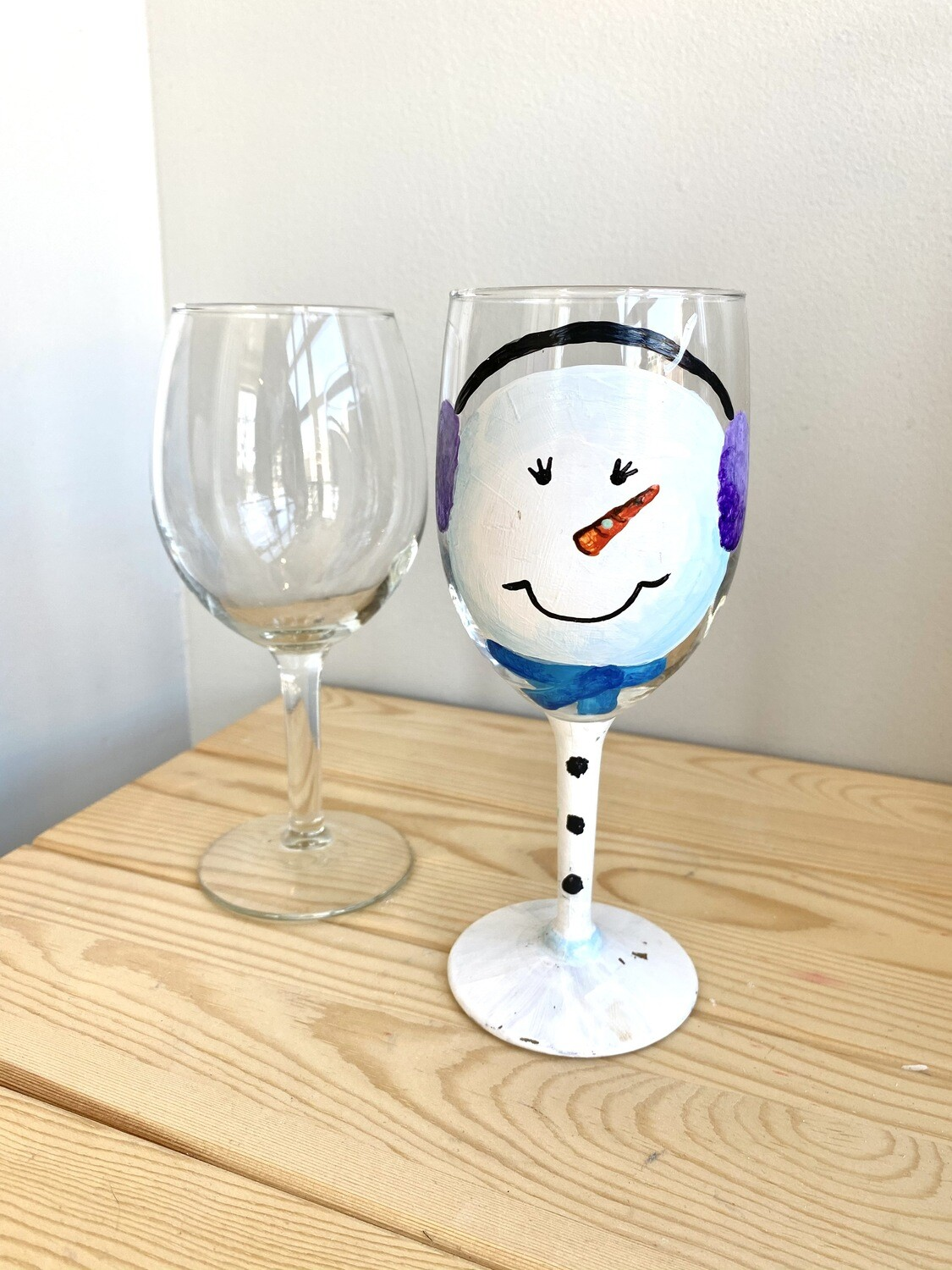 Take Home Set of 2 Wine Glasses - Pick up Curbside