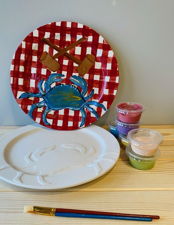 Rim Crab Plate