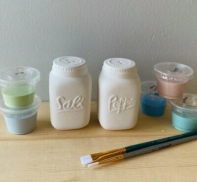 NEW Mason Jar Salt and Pepper Shakers