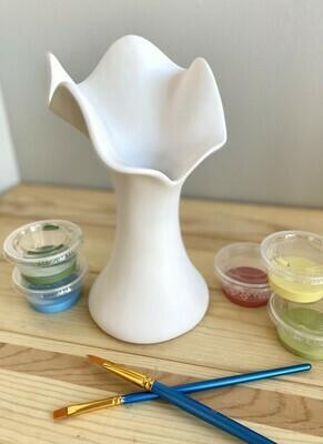 Free form Ruffle Top vase 8