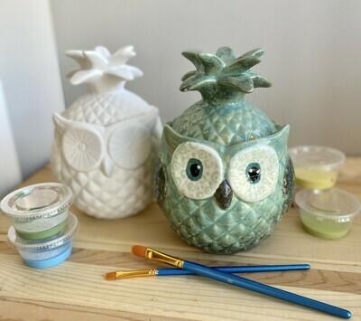 Pineapple Owl Jar