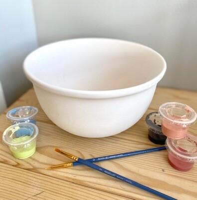 Medium Mixing Bowl with Lip 8
