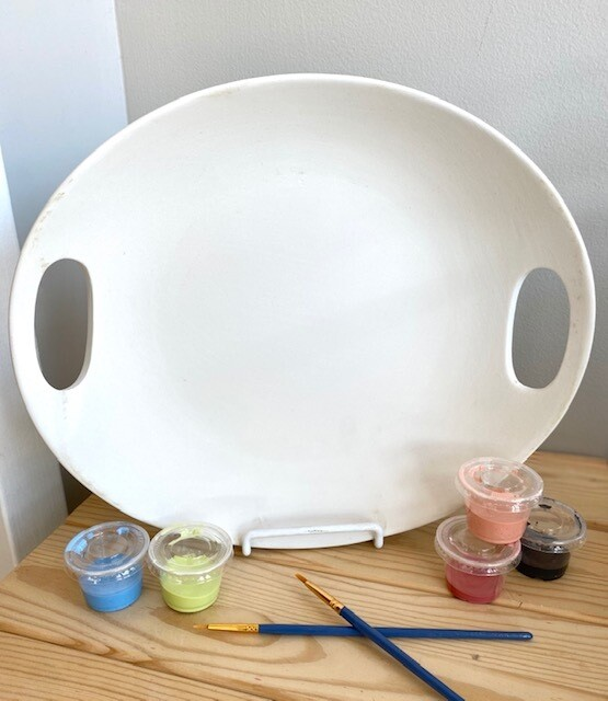 Handle Oval Round Platter