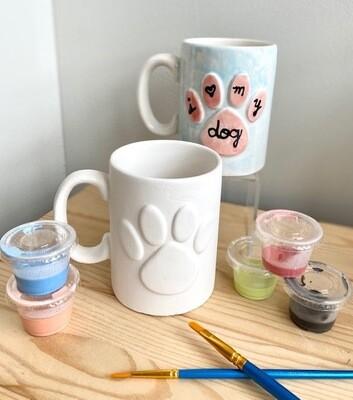 Pet Lover Pawprint Mug