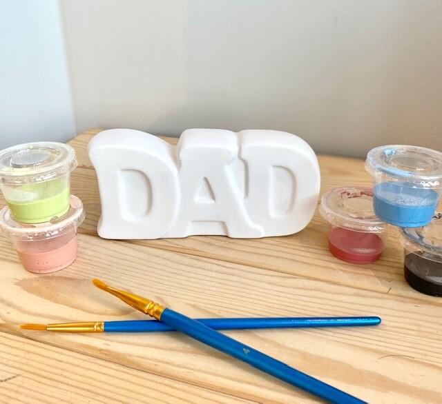 Dad Word Plaque Block Letters