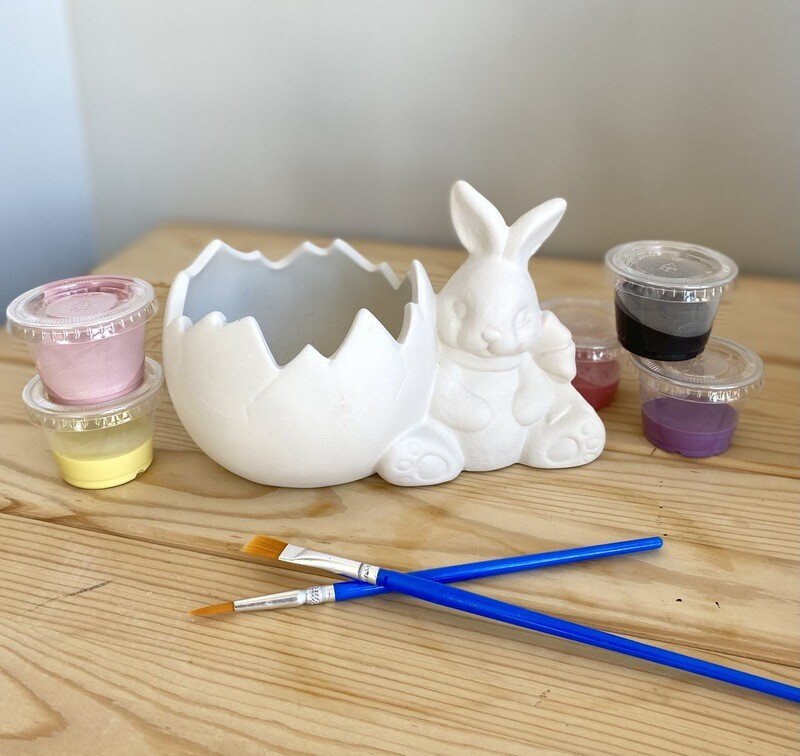 Bunny and Cracked Egg Candle Holder