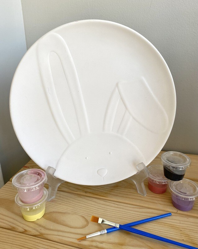 Bunny Face Round Dish