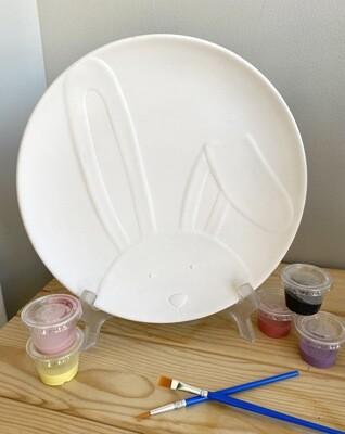 Bunny Face Round Dish