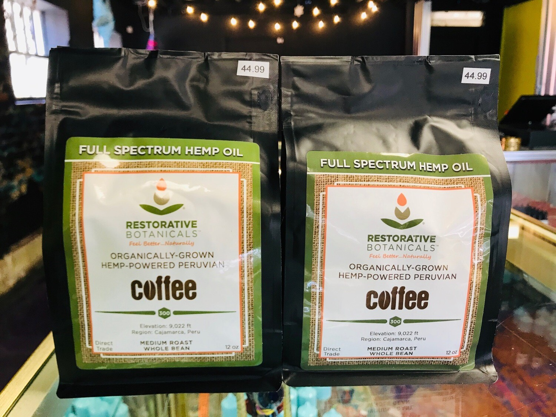 Hemp-Powered Peruvian Coffee Beans 12oz Full Spectrum Organic