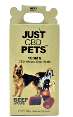 Just CBD Pet Treats Beef Wrap 100mg
