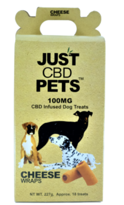 Just CBD Pet Treats Cheese Wraps