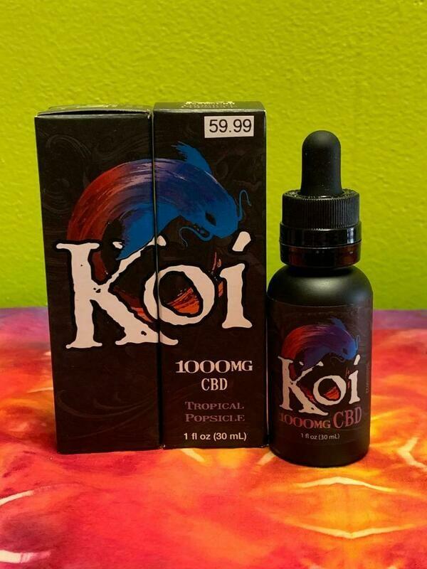 Koi Hemp Extract CBD Vape Juice Tropical Popsicle 1000mg