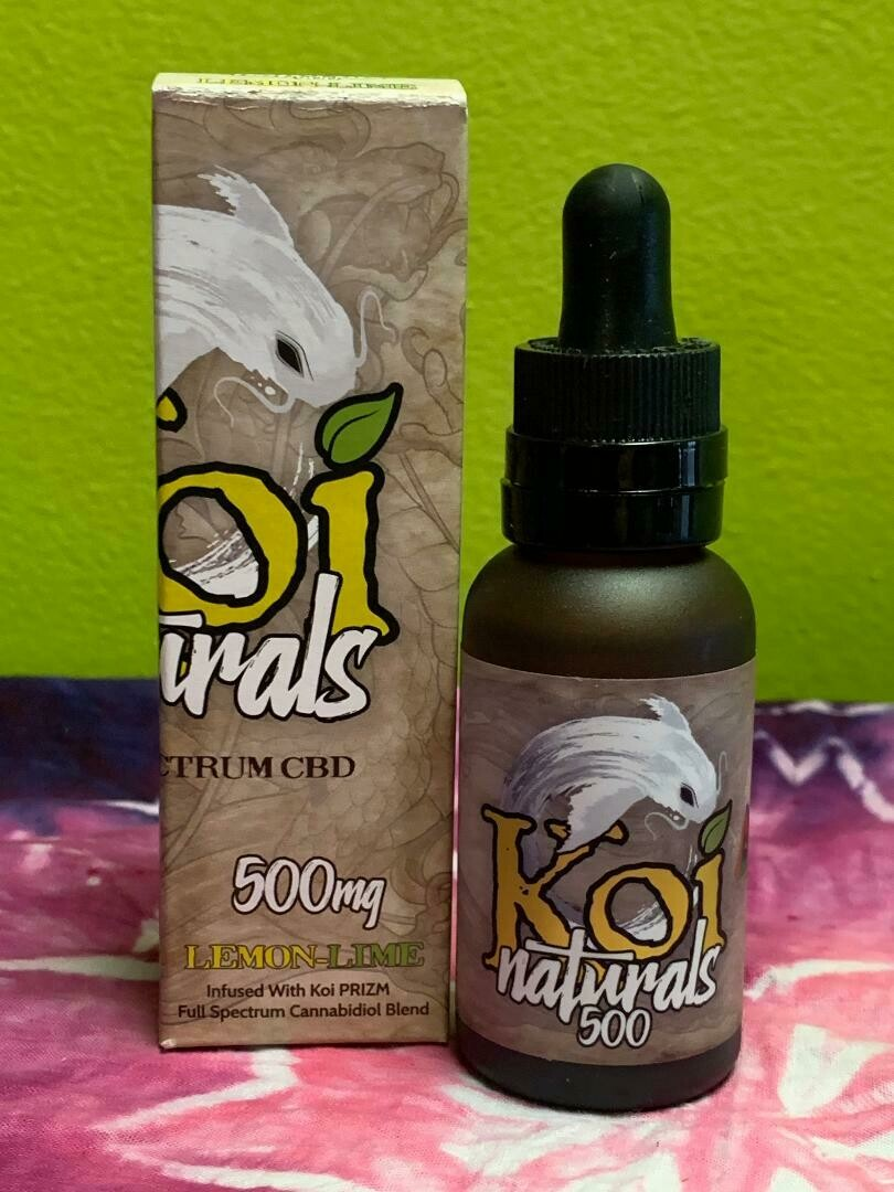 Koi Naturals 500mg lemon–lime tincture