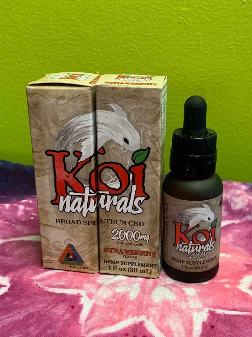 Koi Naturals 2000mg Strawberry Tincture