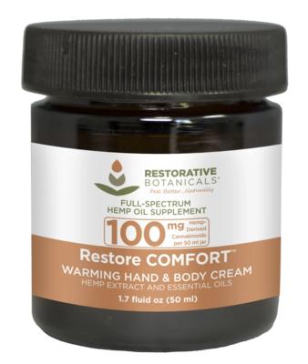 Restorative Botanicals: 100mg Restore Comfort Warming Cream