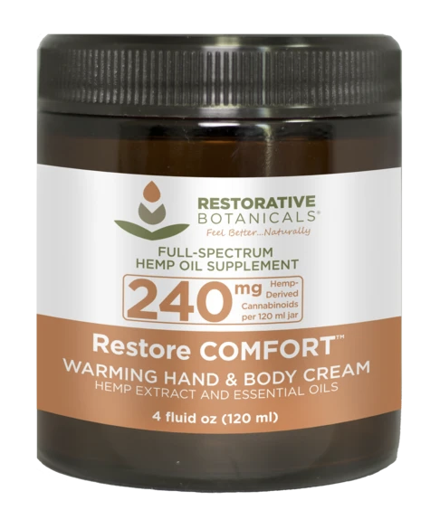 Restorative Botanicals: 240mg Restore Comfort Warming Cream