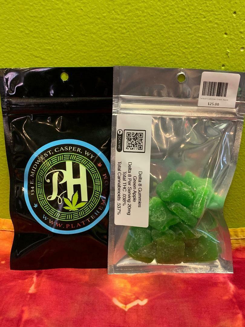 Delta 8 Gummies Green Apple 200mg, 10 pc