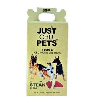 Just CBD Pet Treats Steak Bites 100mg