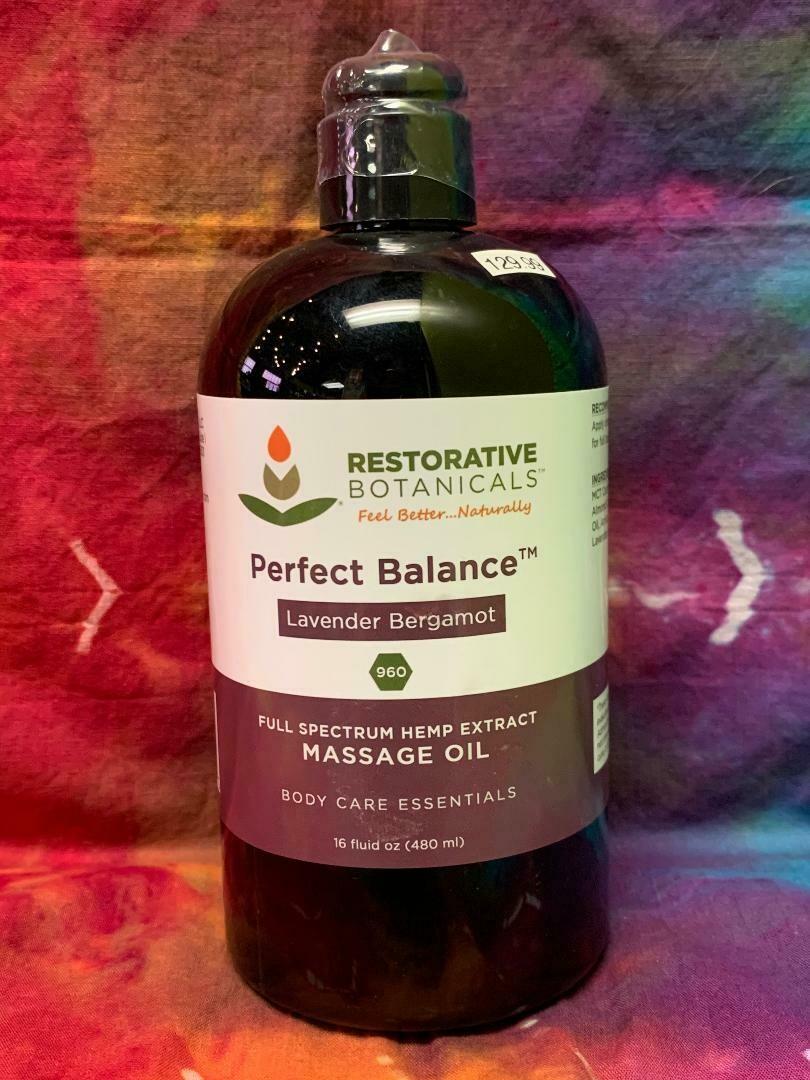 Perfect Balance Massage Oil 16oz 960mg CBD