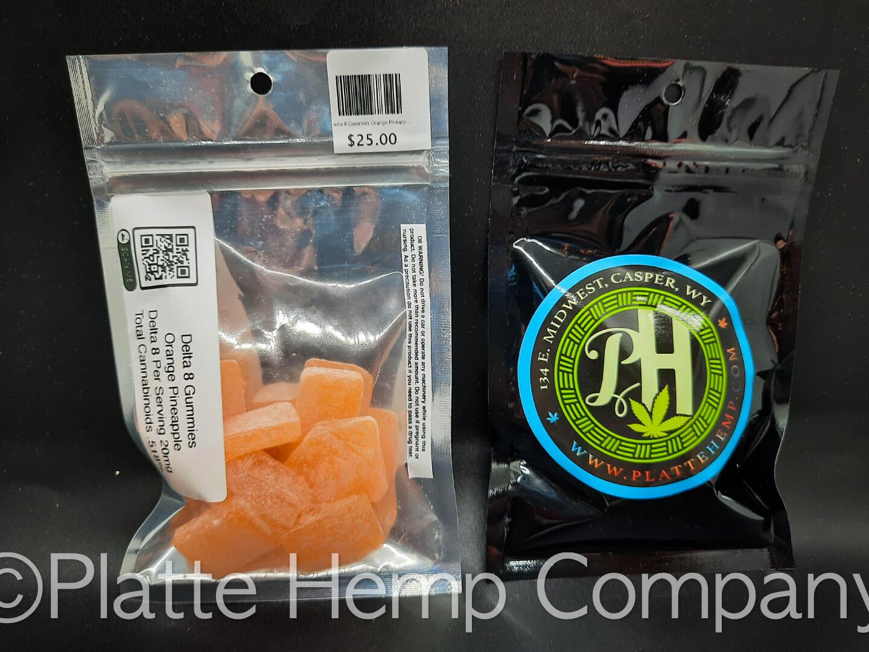 Delta 8 Gummies Orange Pineapple 20mg