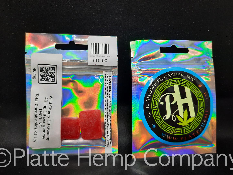 Wild Cherry 40mg Delta 8 Gummies 2pc