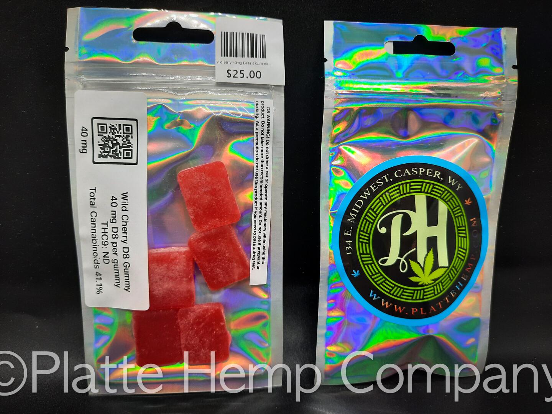 Wild Cherry 40mg Delta 8 Gummies 5pc