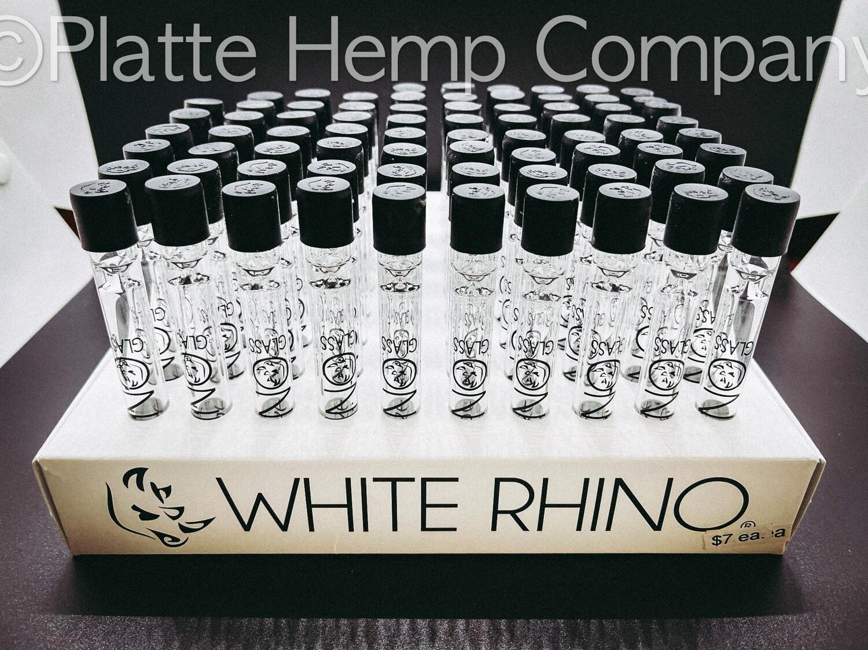 White Rhino Glass Chillum w/Cap